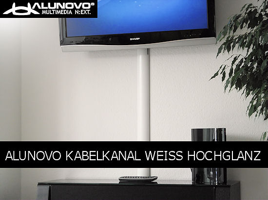 aluminium kabelkanal weiss klavierlack hochglanz 100cm ebay. Black Bedroom Furniture Sets. Home Design Ideas