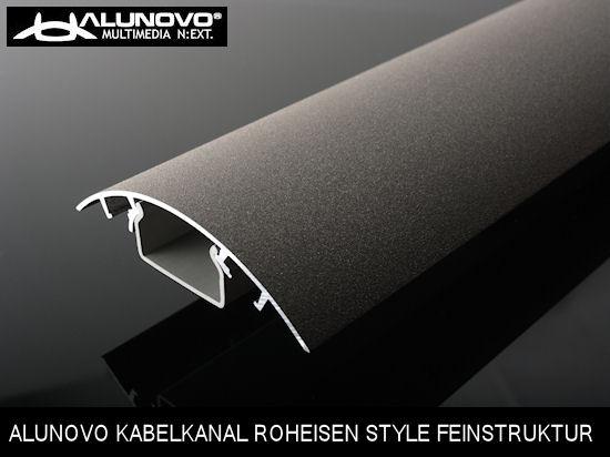 stylisher design kabelkanal roheisen style anthrazit feinstruktur l nge 25cm ebay. Black Bedroom Furniture Sets. Home Design Ideas