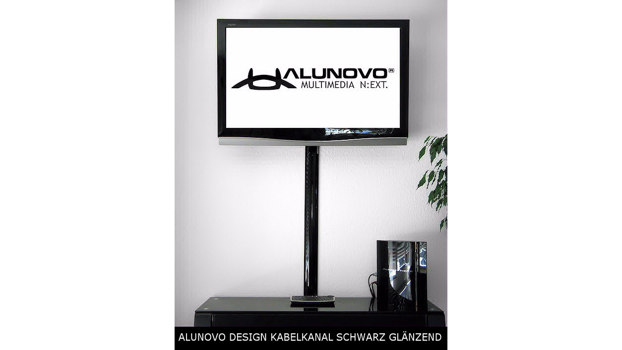 aluminium kabelkanal klavierlack style schwarz hochglanzveredelt l nge 50cm kaufen bei. Black Bedroom Furniture Sets. Home Design Ideas