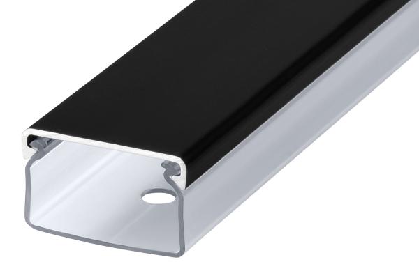 Transparenter Kabelkanal mattschwarz Länge:70cm