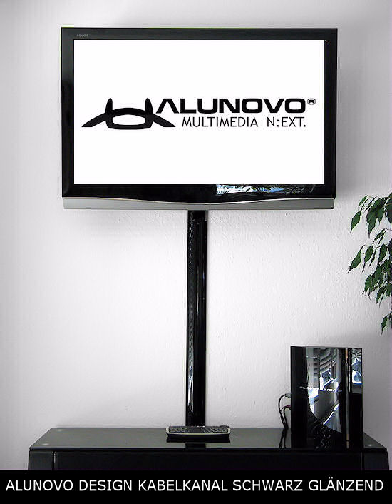 schwarz hochglanz kabelkanal f r tv alunovo kabelkanal manufaktur online shop. Black Bedroom Furniture Sets. Home Design Ideas
