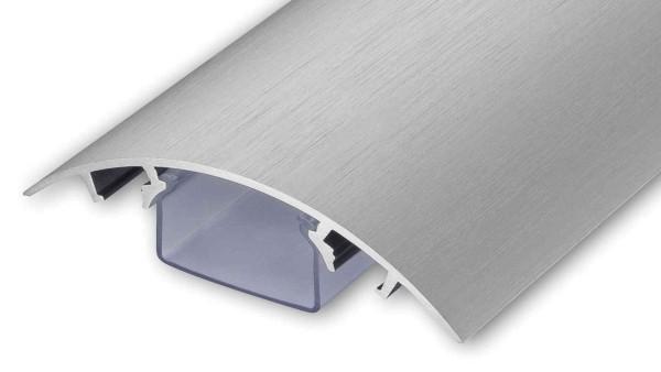 Aluminium Kabelkanal Edelstahl gebürstet Länge: 120cm