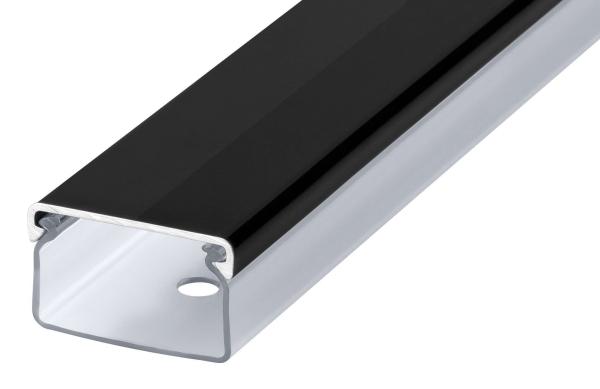 Transparenter Kabelkanal schwarz hochglanz Länge: 20cm