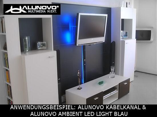 TV Design Aluminium Kabelkanal Edelstahl geb/ürstet Look in verschiedenen L/ängen von ALUNOVO L/änge: 300cm