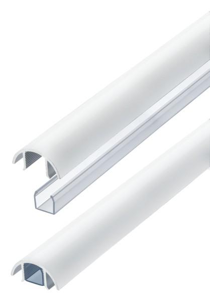 Aluminium MINI Kabelkanal weiss matt (RAL9003) Länge: 200cm