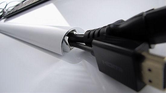 Aluminium MINI Kabelkanal weiss matt Länge:70cm