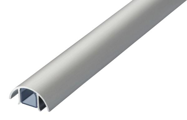 Aluminium MINI Kabelkanal Edelstahl gebürstet Style Länge: 300cm