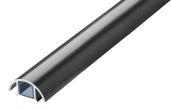 Aluminium MINI Kabelkanal Titanium seidenmatt (anthrazit) Länge: 20cm