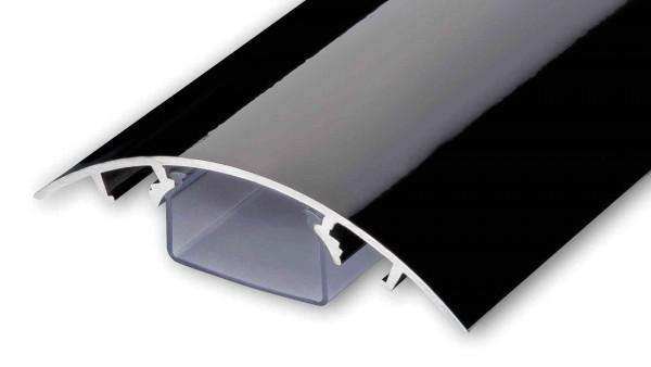 Aluminium Kabelkanal Klavierlack-Style Länge:40cm