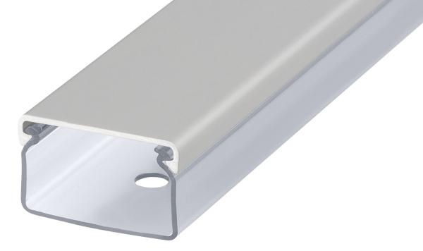 Transparenter Kabelkanal silbermatt eloxiert Länge:100cm