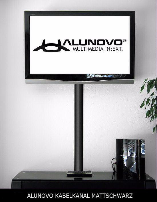 design kabelkanal tv schwarz mattfarben l nge 20cm als schickes tv zubeh r f r fernseher. Black Bedroom Furniture Sets. Home Design Ideas