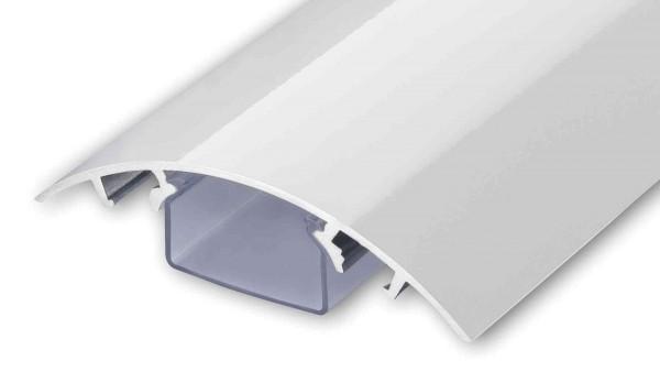 Aluminium Kabelkanal Weiss hochglänzend Länge: 60cm