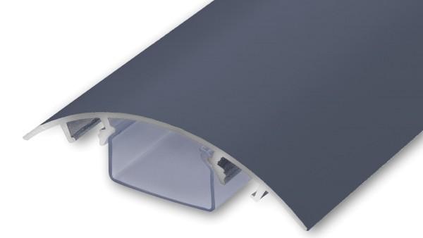 Aluminium Design Kabelkanal in anthrazit seidenmatt RAL7016 in Länge: 20cm