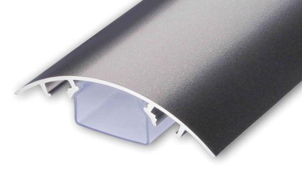 Aluminium Kabelkanal Titanium matt (anthrazit) Länge: 250cm