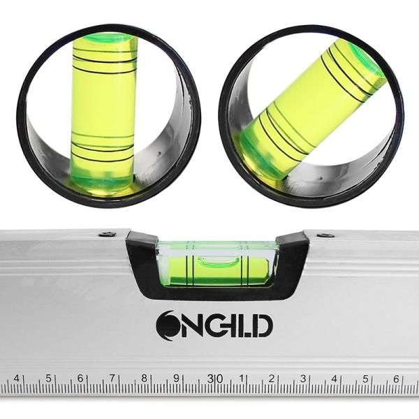 Alu Wasserwaage 60 cm magnetisch 3 Libellen: horizontal, vertikal, 45°